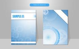 Fondo del diseño de la cubierta del concepto de la tecnología del modelo de la burbuja del vector Imagenes de archivo