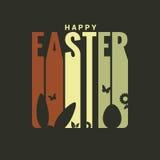 Fondo del diseño de la etiqueta de Pascua stock de ilustración