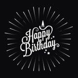 Fondo del diseño de la explosión de la estrella del logotipo del feliz cumpleaños Imagen de archivo