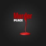 Fondo del diseño de la sangre del asesinato ilustración del vector