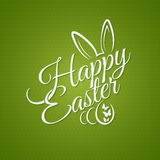 Fondo del diseño de letras del vintage de Pascua Fotografía de archivo libre de regalías