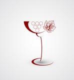 Fondo del diseño de tarjeta del menú del vino Fotos de archivo