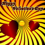 Fondo del diseño del día de tarjetas del día de San Valentín Imagenes de archivo