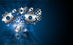 Fondo del diseño del extracto del concepto de la innovación de la tecnología del engranaje Foto de archivo libre de regalías