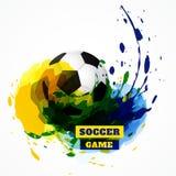 Fondo del diseño del fútbol stock de ilustración