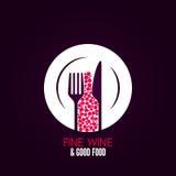Fondo del diseño del menú de la placa de copa de vino Imagen de archivo