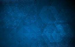 Fondo del diseño del polígono de la ciencia y del concepto de la tecnología Foto de archivo libre de regalías