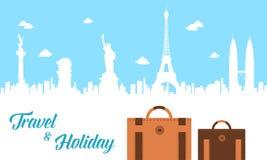 Fondo del diseño del viaje y del día de fiesta stock de ilustración