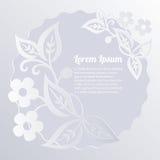 Fondo del diseño floral?, contexto, diseño de la ilustración Cordón de papel Corte el efecto de papel Fotografía de archivo
