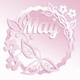 Fondo del diseño floral?, contexto, diseño de la ilustración Cordón de papel Corte el efecto de papel Foto de archivo libre de regalías