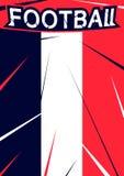 Fondo del diseño moderno con el icono de la muestra del fútbol Plantilla del deporte del fútbol para el cartel del campeonato, ba Imagenes de archivo
