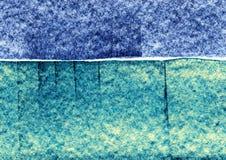 Fondo del disegno strutturale, colpi blu del gesso, fondo artistico lineare, struttura decorativa Fotografie Stock