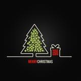 Fondo del diseño de la caja de regalo del árbol de navidad Foto de archivo