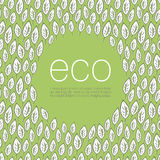 Fondo del diseño del cartel de la ecología Imagen de archivo libre de regalías