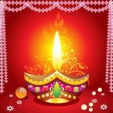 Fondo del diwali de Absrtract con el deepak
