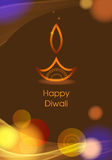 Fondo del diya del diwali del vector Imagen de archivo
