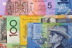 Fondo del dólar australiano Foto de archivo libre de regalías