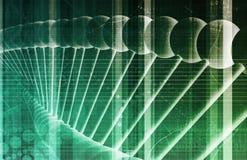 Fondo del DNA illustrazione di stock