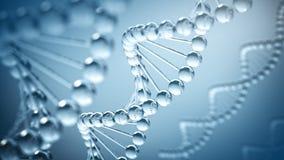 Fondo del DNA - illustrazione 3D Fotografia Stock Libera da Diritti