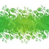 Fondo del dollaro Fotografia Stock