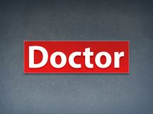 Fondo del dottore Red Banner Abstract illustrazione vettoriale
