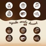 Fondo del dulce del vector Fotografía de archivo libre de regalías