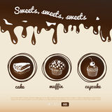 Fondo del dulce del vector Imagen de archivo