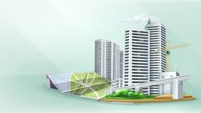 Fondo del edificio de la ciudad libre illustration