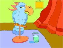 Fondo del ejemplo coloreado de un pájaro del loro libre illustration