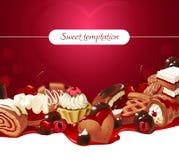 Fondo del ejemplo del vector de dulces Fotografía de archivo libre de regalías