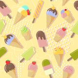 Fondo del ejemplo del helado en el estilo abstracto de Memphis libre illustration