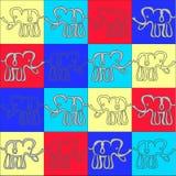 Fondo del elefante illustartion Ilustración del Vector