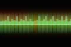 Fondo del equalizador de la música Fotos de archivo