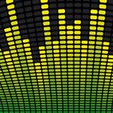 Fondo del equalizador de la música Foto de archivo libre de regalías