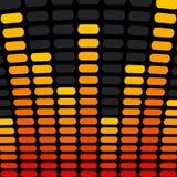 Fondo del equalizador de la música Fotografía de archivo libre de regalías