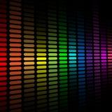 Fondo del equalizador del espectro Imagenes de archivo