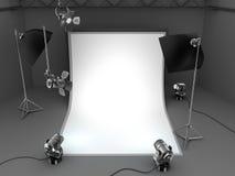Fondo del equipo del estudio de la foto Fotos de archivo libres de regalías