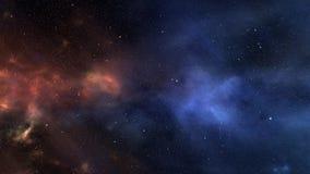 Fondo del espacio con las estrellas que brillan intensamente libre illustration