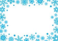 Fondo del espacio de la palabra del concepto del invierno del copo de nieve stock de ilustración