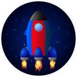 Fondo del espacio de Rocket libre illustration