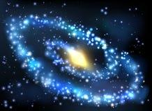 Fondo del espacio exterior de la galaxia y de las estrellas stock de ilustración
