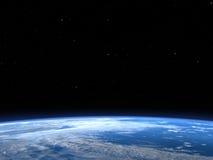 Fondo del espacio exterior del planeta de la tierra Fotos de archivo