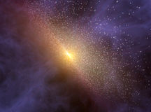 Fondo del espacio profundo con la rotación de la galaxia Imágenes de archivo libres de regalías