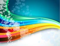 Fondo del espectro del arco iris para el folleto Foto de archivo libre de regalías