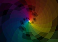 Fondo del espiral del color del vector Imagenes de archivo