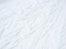 Fondo del esquí del campo a través Foto de archivo libre de regalías