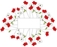 Fondo del estampado de flores Imagenes de archivo