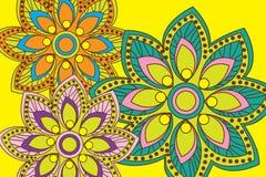 Fondo del estampado de flores Imagen de archivo