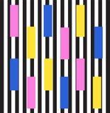 Fondo del estilo de Memphis tendencia de los años 80 Ilustración Imagenes de archivo