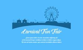 Fondo del estilo del diseño del funfair del carnaval libre illustration